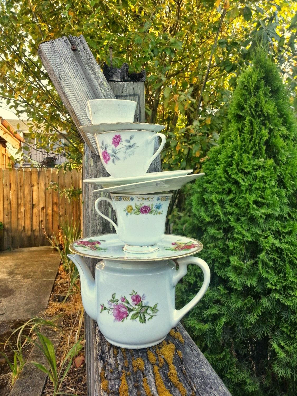 mad hatter tea party decor  teapot centerpiece  teacup wedding
