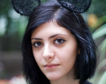 Black Lace Mouse Ears