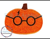 HP inspired Pumpkin - Harry Potter Inspired Applique
