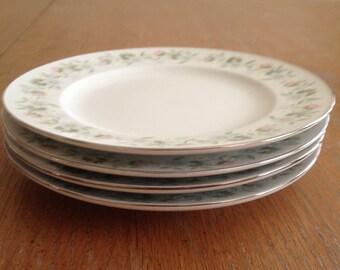 Johann Haviland Forever Spring Bread & Butter Plates Set Vintage Bavaria Germany
