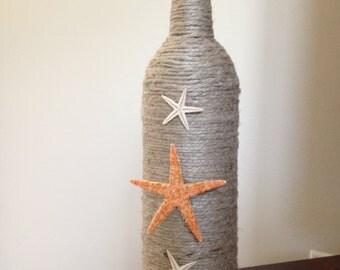 750 mL Upcycled nautical wine bottle