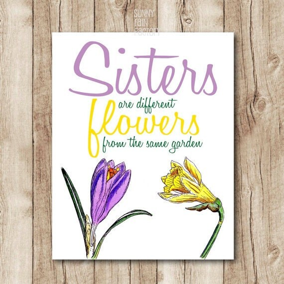 Wall Art Quotes For Sisters : Sister quote sisters wall art gift for are