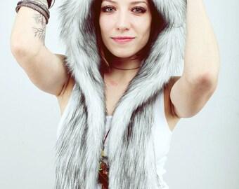 "Beast Hat ""Husky"" A, faux fur, with ears"