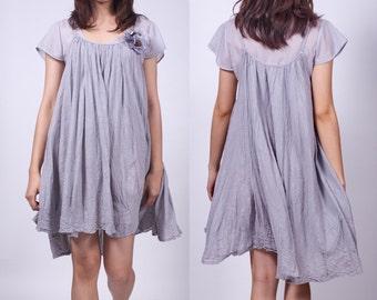 Shinning Stars - Grey - Short Dress - idea2love