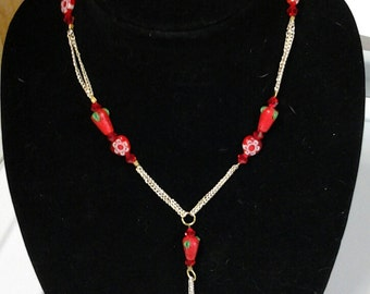 Strawberry Banana Necklace