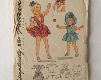 1944 Girls Simplicity dress pattern