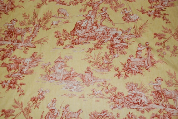 nouveau bergere toile fabric fabric by the yard yellow. Black Bedroom Furniture Sets. Home Design Ideas