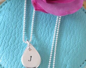 Personalised Silver Initial Pendant
