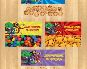 INSTANT DOWNLOAD - Avengers Party Favor Bag Topper