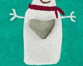 Joy!  This snowman's heart is filled with JOY as Christmas approaches.  10 cards/10 envelopes included.