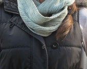 Knitted Snood in Soft Green - Free Shipping