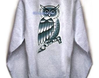 SALE BIEBER-Esque Owl TATTOO Sweatshirt by Enigma Chic */*