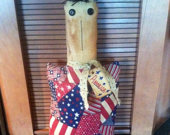 Primitive patriotic shelf sitter