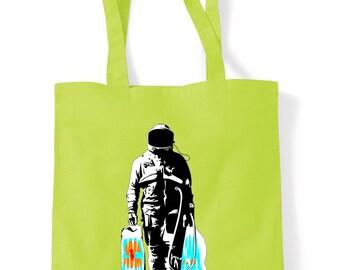 Banksy Spaceman Shopping Bag