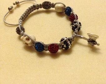 Shamballa Style Bracelet with Axe Charm