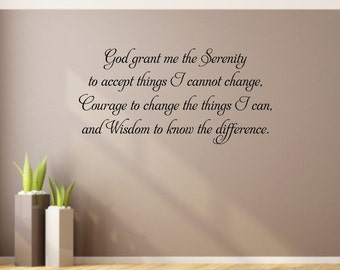 God grant me the Serenity Wall Decal