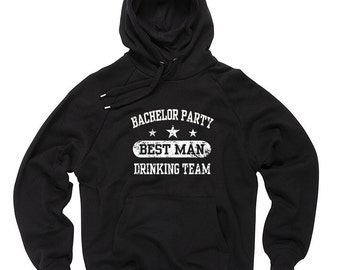 Bachelor Party Best Man Drinking Team Hoodie Wedding Sweatshirt Hooded Sweater