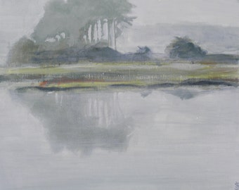Waterscape: In the Mist 10x10, giclee print