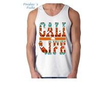 Cali Life Tribal Tank Top. California Tribal Pattern Mens Tank Top. Cali State Shirt. CA Tank. Cali Life Style Tee. California Shirt. XS-2XL