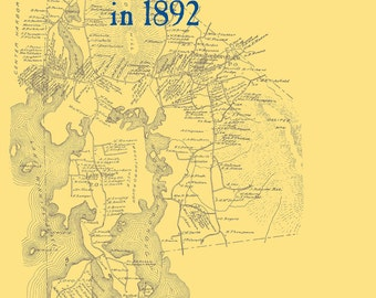 The Old Maps of Carroll County,  New Hampshire in 1892