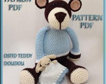 Pattern - Pattern amigurumi PDF: teddy bear doudou - Teddy doudou