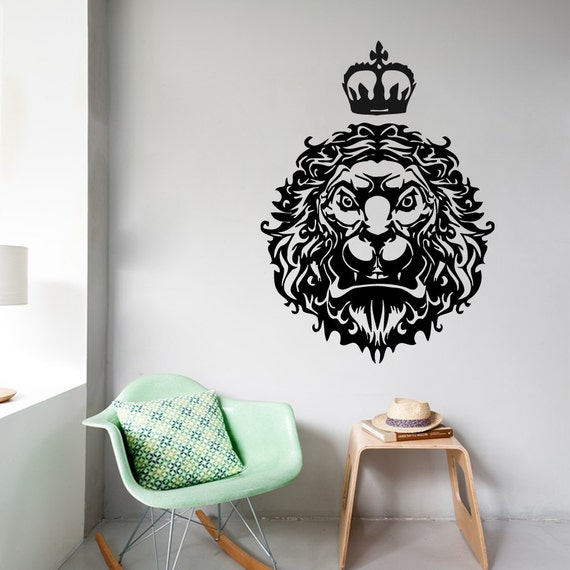 wall decals lion king animals home vinyl decal by decalmyhappyshop. Black Bedroom Furniture Sets. Home Design Ideas
