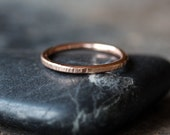 Men's Gold Ring, Hammered Gold Band, 14k Gold Wedding Ring, 2mm Thick, Wedding Band For Him, Unisex Band, Eco Friendly Recycled Gold