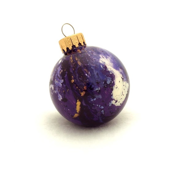 Small christmas ornaments 1 3 4 diameter purple and for Small gold christmas ornaments