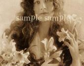 SALE no1013 Instant Digital Download Scan - Vintage photograph - Princess -Antique FRENCH Postcard