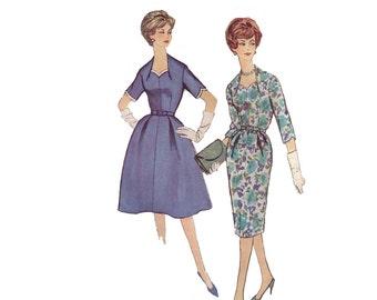 60s Wiggle Dress pattern Full Skirt Dress pattern Sweetheart Neckline Dress pattern vintage 35-29-39  Simplicity 3263