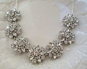 Bridal statement necklace, Wedding Necklace, Crystal Necklace, Statement Necklace, Bridal Jewelry,Statement jewelry,