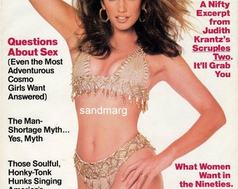 Vintage Cosmopolitan Magazine Cindy Crawford Francesco Scavullo July 1992