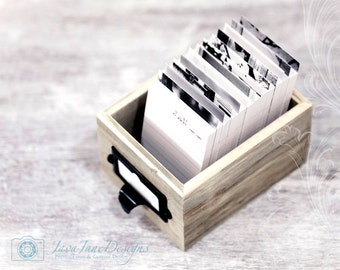 Minimalist Daily Journal and Perpetual Calendar - Warm Weathered Gray Rustic Beach Wood Box, Black White and Grey
