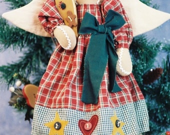 Cloth Doll E-Pattern  16in Gingerbread Holiday Angel Doll Epattern