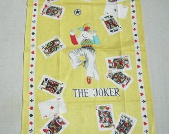 Vintage Towel The Joker is Wild MWT