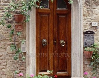 Rustic Door Photography, Italian Door Art, European Decor, Wooden Door Photography, Fine Art Photography, Italian Photo, Tuscan Door Print