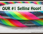 BeSt SELLer - Rainbow 'Black Galaxy Mantra' - Fully Customizable Travel Hula Hoop - UV Reactive // GLOWS in Blacklight