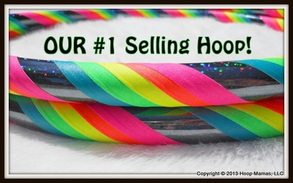 BeSt SELLer - Rainbow 'Black Galaxy Mantra' - Fully Travel Hula Hoop - UV Reactive // GLOWS in Blacklight. Pro Hoops with Over 30,000 Sold!