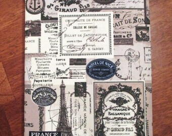 Ooh la la Hand-crafted Fabric Bookcover