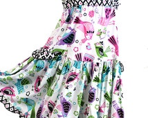 Special Occasion Girls Dress Pink Purple Aqua Birds Boutique Girl Clothes Cotton Girls Party Dress Size 2T 3 4 5 6 7 8 10 12 14 Kid Clothes