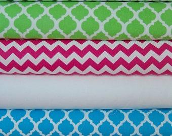 Designer Excellent Quality Fabric Finders Yardage Quatrefoils  Chevron Fabric Choose your colors.