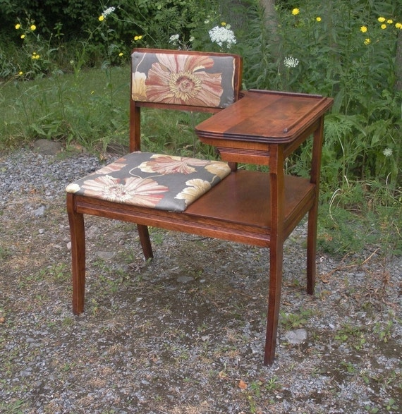 Vintage 1950s Telephone Chair Gossip Bench