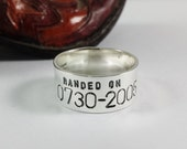 Personalized Duck Band Ring - Wedding Ring - Anniversary -  Bird band  - Sizes 10.25 and up