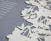 Ketubah Papercut by Jennifer Raichman - Cherry Blossoms