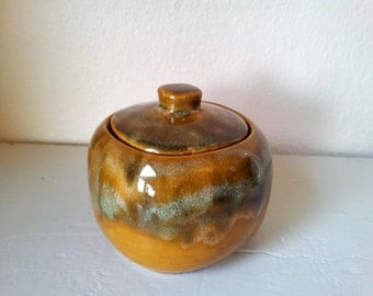 SALE - Vintage Beauce / Beauceware Golden Brown Sugar Bowl Made in Canada #460