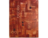 Original Modern Art  Abstract Textured Painting on Canvas, 12345, by Lisa Strassheim - Rust  - Gold - Brown