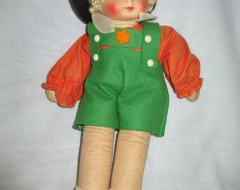 Mid Century Cloth Doll/ Rag Doll/Old Doll/Georgene Novelities Doll/ Tyrolean Doll/ Mollye/by Gatormom13