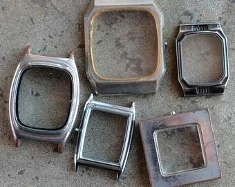 Wrist Watch Case Parts  -- set of 5 -- D17