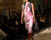 Colorblock shift dress. Seamless Felted light cabernet pecan brown short dress mozaic vitrage, OOAK felted Dress ohtteam