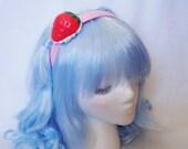 Huge Strawberry 'n' Whipped Cream Headband